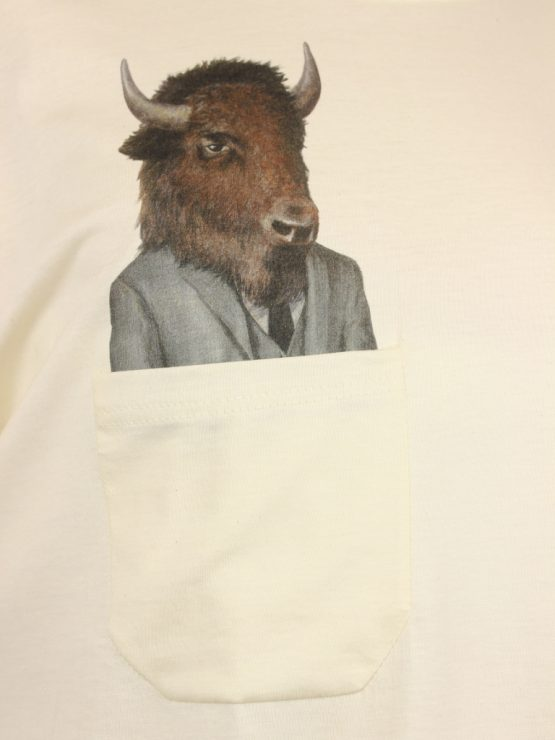 Tanktop - Business Bison - Pocket Print detail