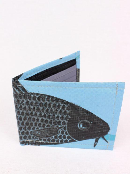 Geldbeutel Fisch hellblau