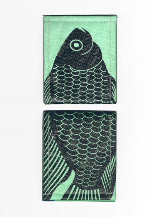Geldbeutel Fisch mint