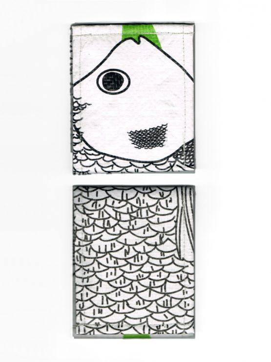 Geldbeutel Fisch weiss