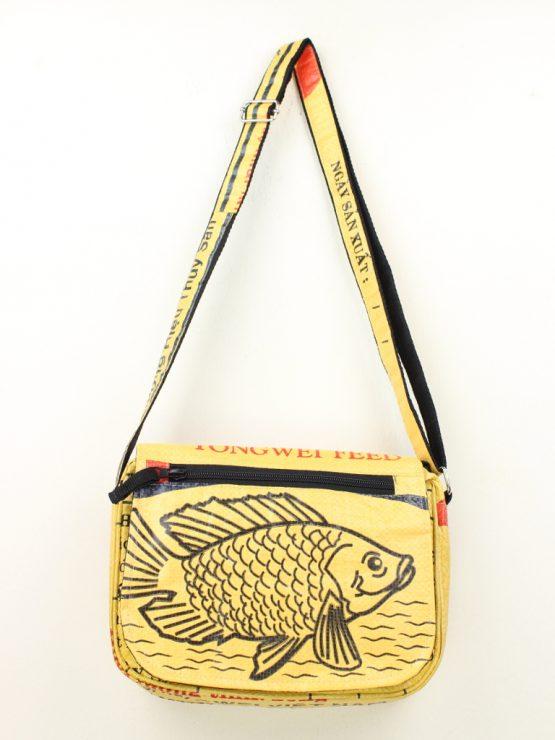 Handtasche Fisch gelb