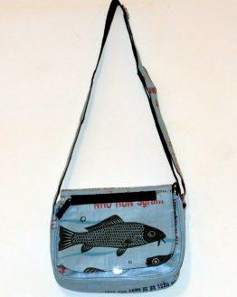 Handtasche Fisch hellblau