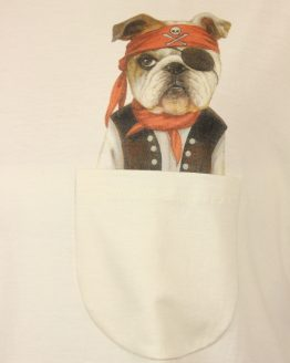 Piraten Hund - Pocket Print