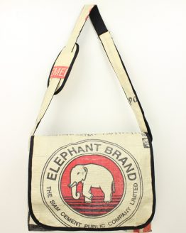 Schultertasche Elefant rot rand