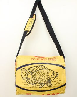 Schultertasche - Fisch gelb