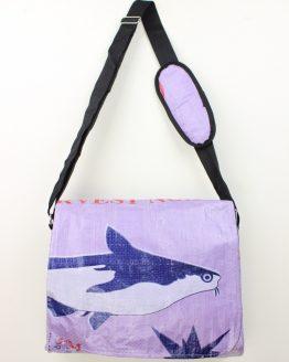 Schultertasche Fisch lila