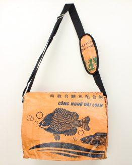 Schultertasche Fisch orange