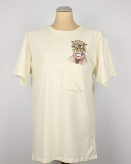 T-Shirt - Casual Tiger - Pocket Print