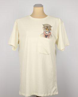 T-Shirt - Casual Tiger - Pocket Print