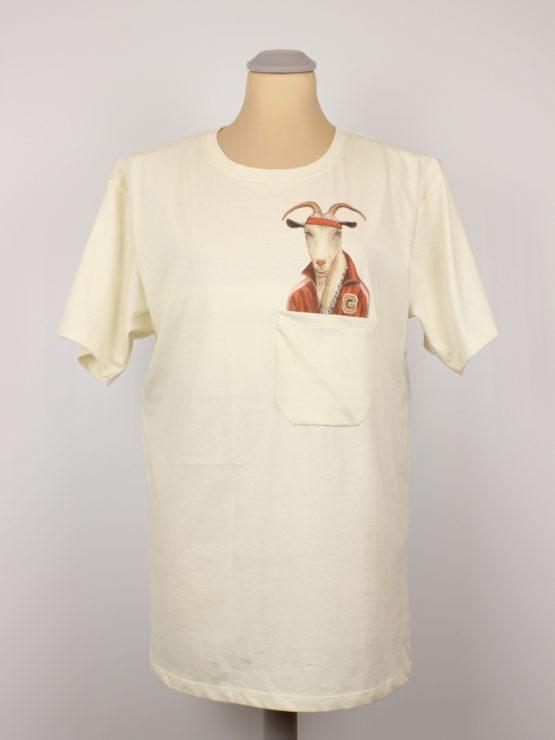 T-Shirt - HipHop Ziege - Pocket Print