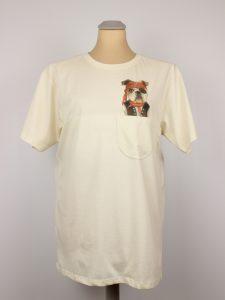 T-Shirt - Piraten Hund - Pocket Print