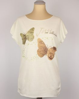 T-Shirt - Schmetterling pastell