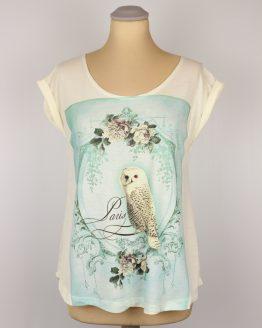 T-Shirt umgenähte Ärmel - Schnee Eule