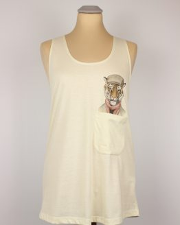 Tanktop - Casual Tiger - Pocket Print
