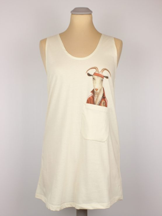 Tanktop - HipHop Ziege - Pocket Print
