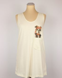 Tanktop - Piraten Hund - Pocket Print