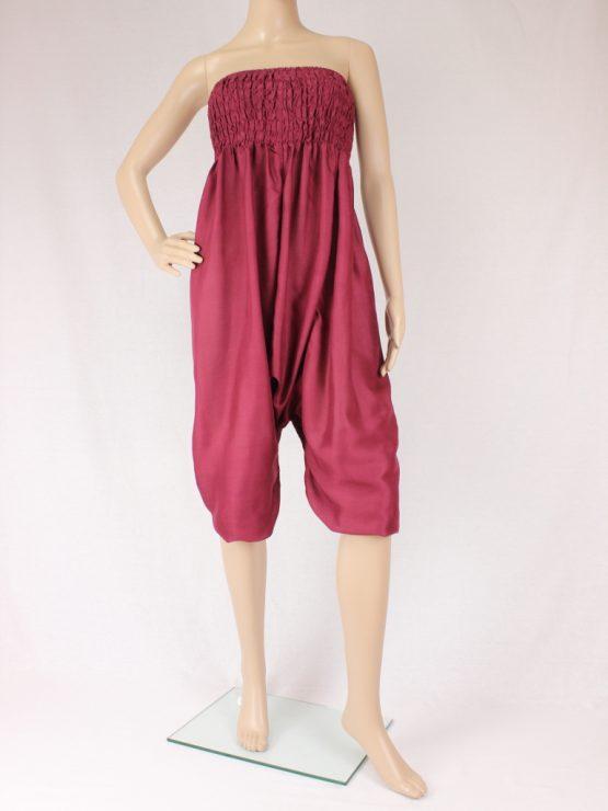 Jumpsuit Aladinhose - bordeaux rot