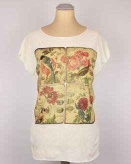 T-Shirt - Blumen Kacheln Vintage