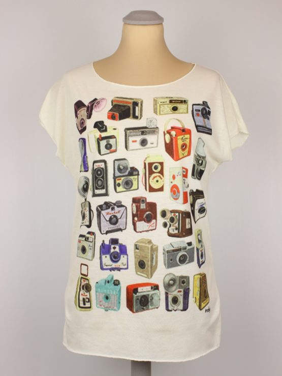 T-Shirt - Fotoapparate bunt