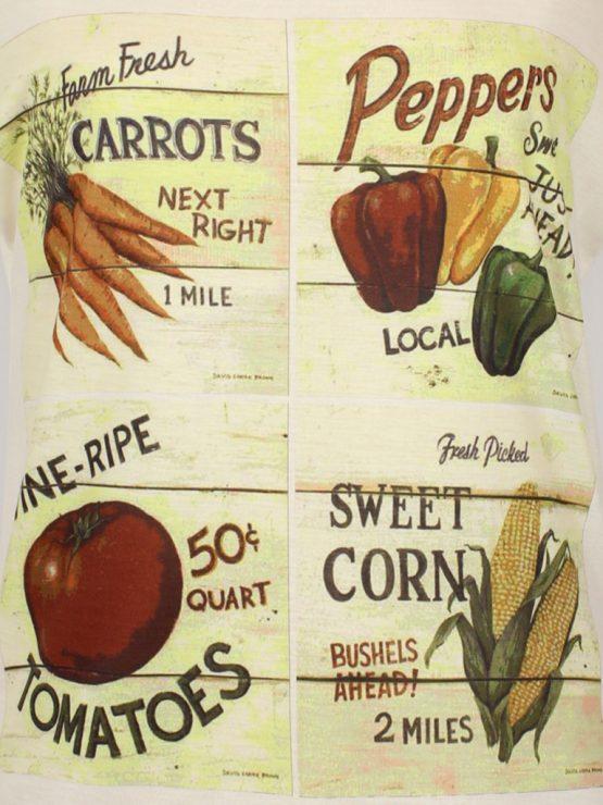 T-Shirt - Vintage Gemüse-Kacheln
