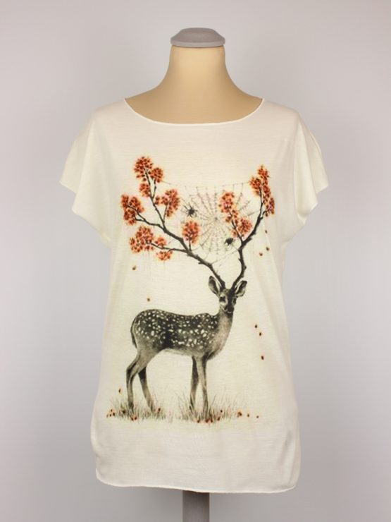 T-Shirt - Hirsch Spinnennetz