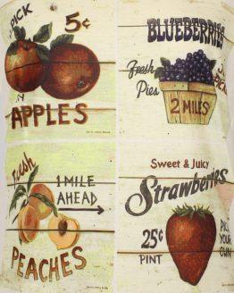 T-Shirt - Vintage Obst-Kacheln