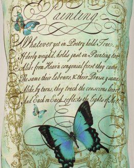 T-Shirt - Vintage Schmetterling Gedicht
