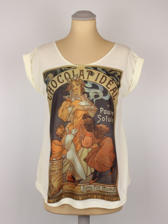 T-Shirt - umgenäht - Chocolat Vintage Werbung