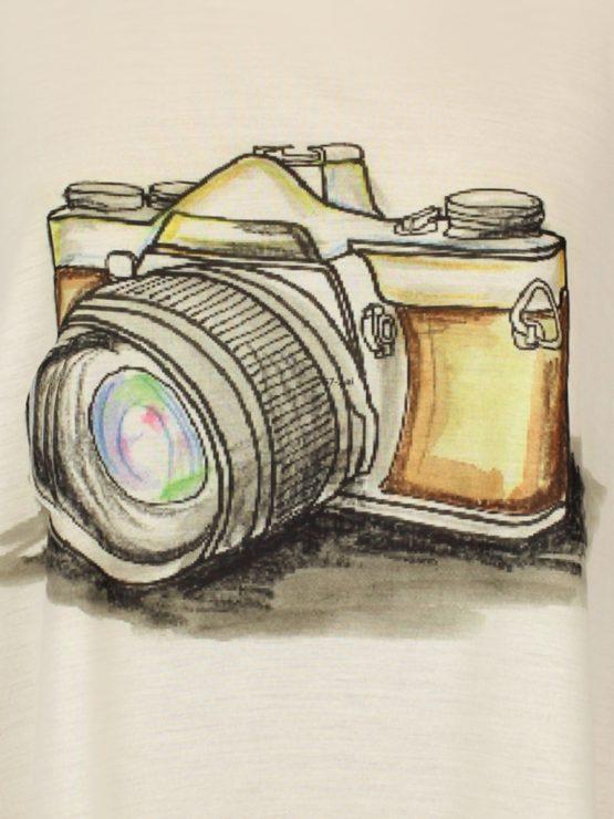 T-Shirt - umgenäht - Fotoapparat Vintage