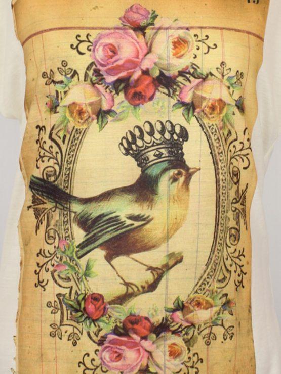 T-Shirt - umgenäht - Vintage König der Vögel