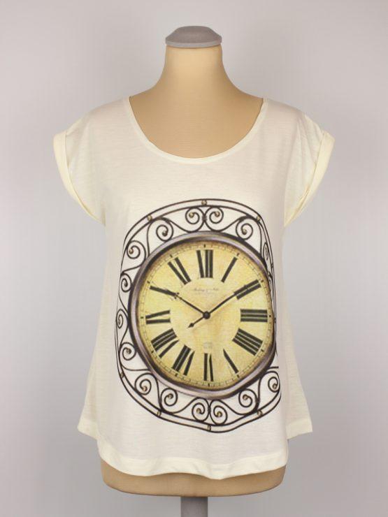 T-Shirt - umgenäht - Kolonialzeit Uhr Vintage
