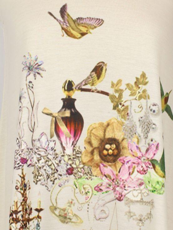 Tanktop - Parfum Flakon mit Blumen