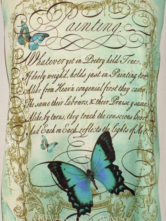 Tanktop - Vintage Schmetterling Gedicht türkis