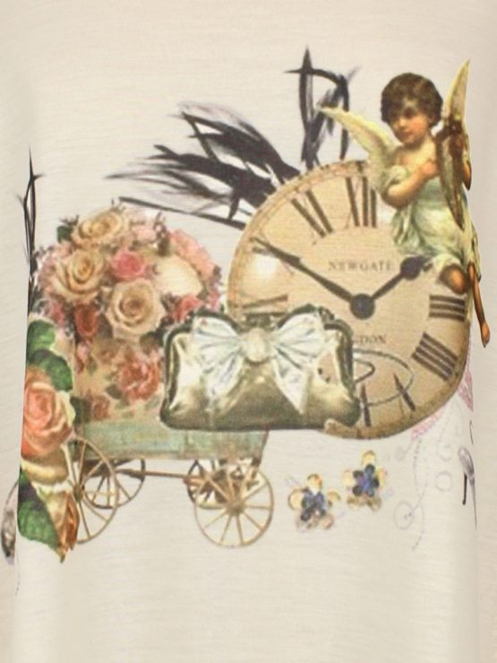 Tanktop - antike Uhr mit Barock Engel