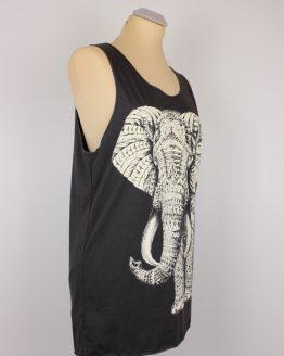 Tanktop - grau - unisex - Elefant
