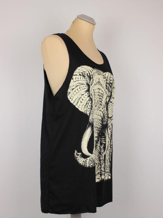 Tanktop - schwarz - unisex - Elefant
