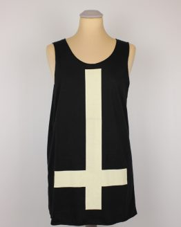 Tanktop - schwarz - unisex - inverted cross