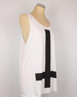 Tanktop - weiß- unisex - inverted cross